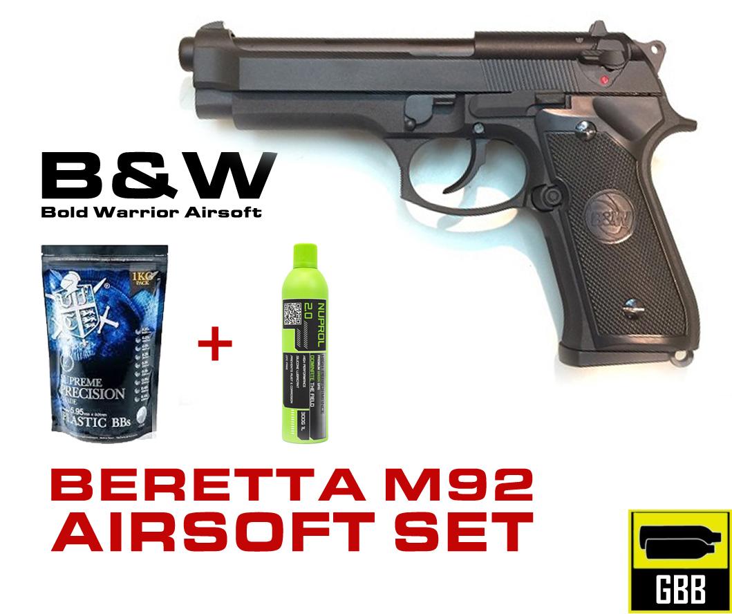 BW BERETTA M92 Airsoft Tabanca KAMPANYA SETI