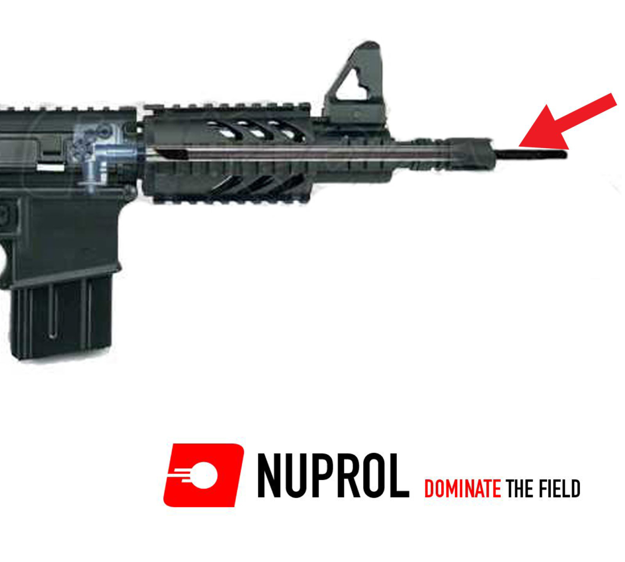 NUPROL Airsoft 455mm (6.03mm) Paslanmaz Çelik Namlu