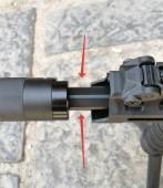 Airsoft Tüfek Dış Namlu Uzatıcı 14mm CCW - Thumbnail