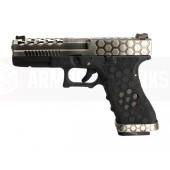 AW VX0100 Hex Cut ''Signature Model'' 1.7 GBB Airsoft Tabanca - Gümüş-Siyah - Thumbnail