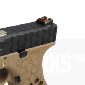 AW VX0111 Hex Cut ''Signature Model'' 1.7 GBB Airsoft Tabanca - Tan - Siyah - Thumbnail