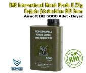 EMG International Match Grade 0.23g BIO 6mm Airsoft BB 5000 Adet - Beyaz - Thumbnail
