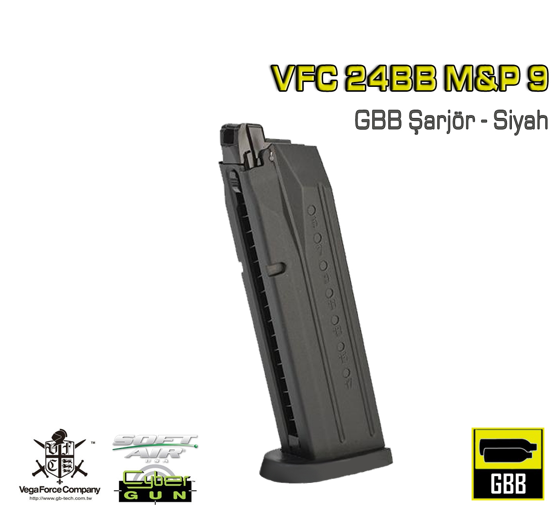 EMG SAI Smith Wesson M&P9 GBB Şarjör-Siyah