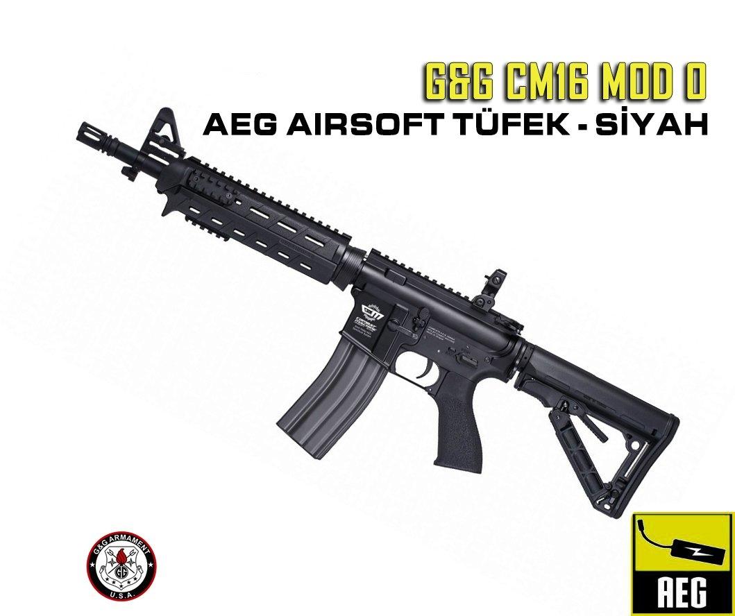 GG CM16 MOD0 AEG AIRSOFT TÜFEK - SİYAH