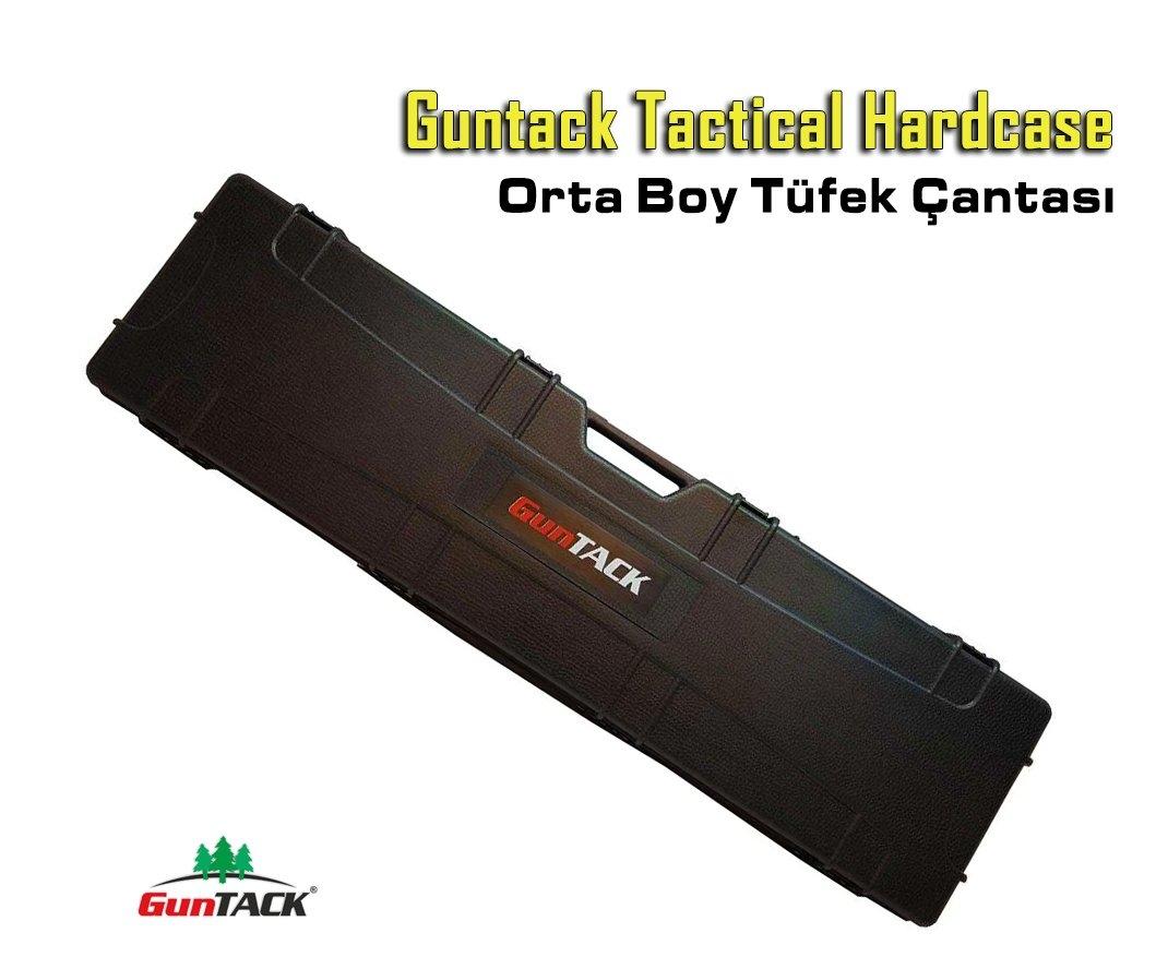 Guntack Tactical Hardcase Orta Boy Tüfek Çantası - Siyah