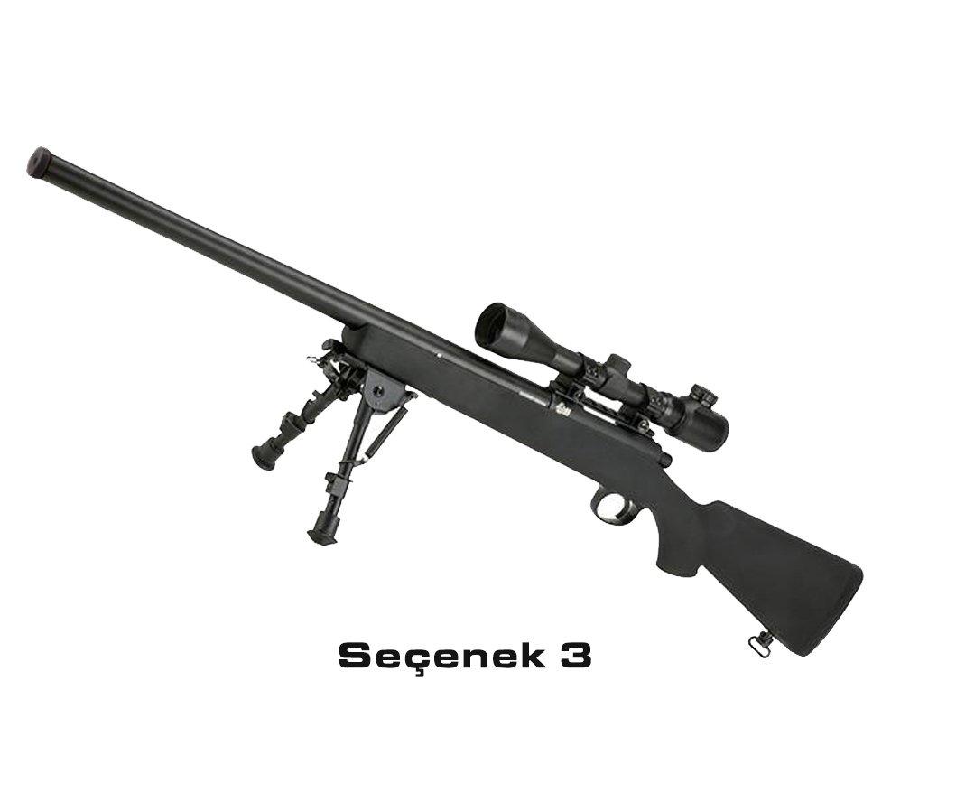 JG VSR-10 / BAR-10 Airsoft Bolt Action Sniper Metal Trigger Box - 500FPS BLACK Yalnız Tüfek