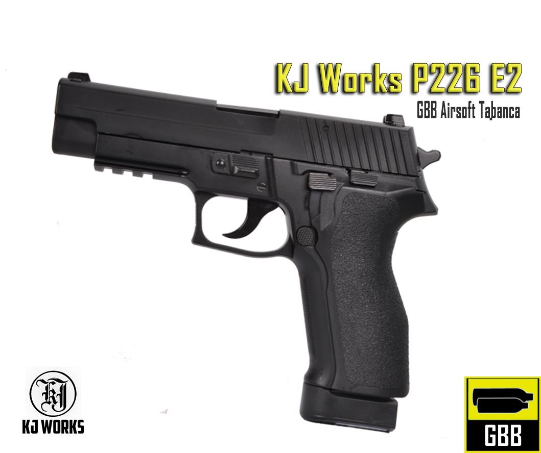 KJW P226 E2 GBB Airsoft Tabanca
