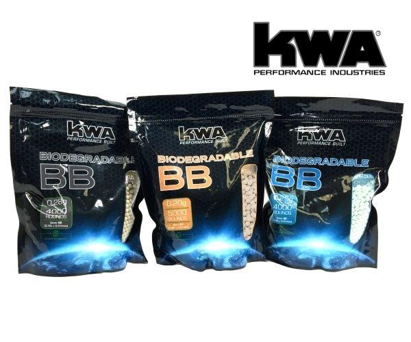KWA 0.25G BIO BB Airsoft Mermi 4000 Adet
