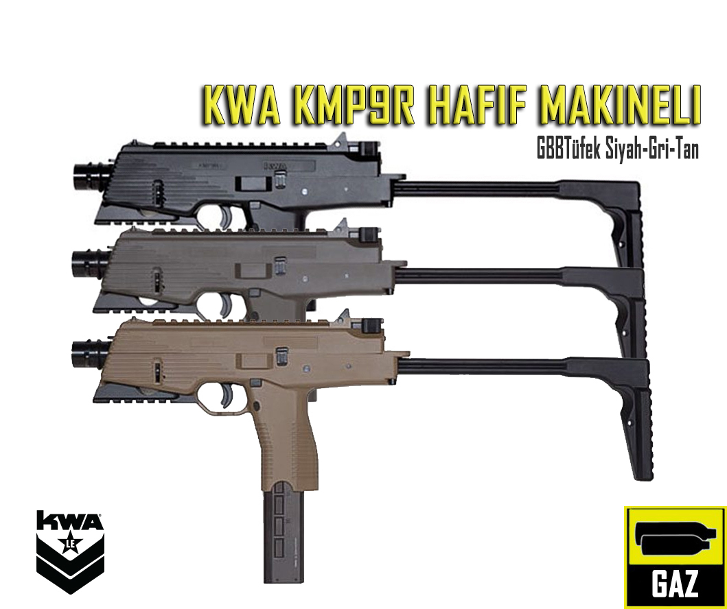KWA KMP9R- NS2 HAFİF MAKİNELİ GBB TÜFEK