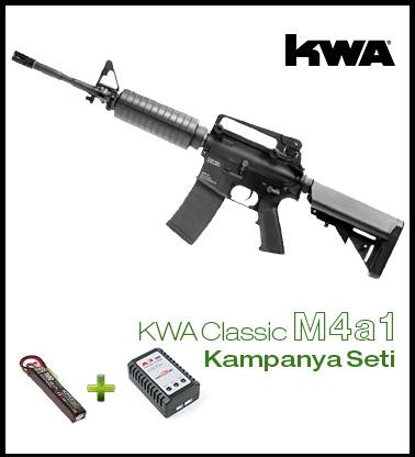 Kwa M4A1 Pil + Şarj KAMPANYA SETI KM4A1