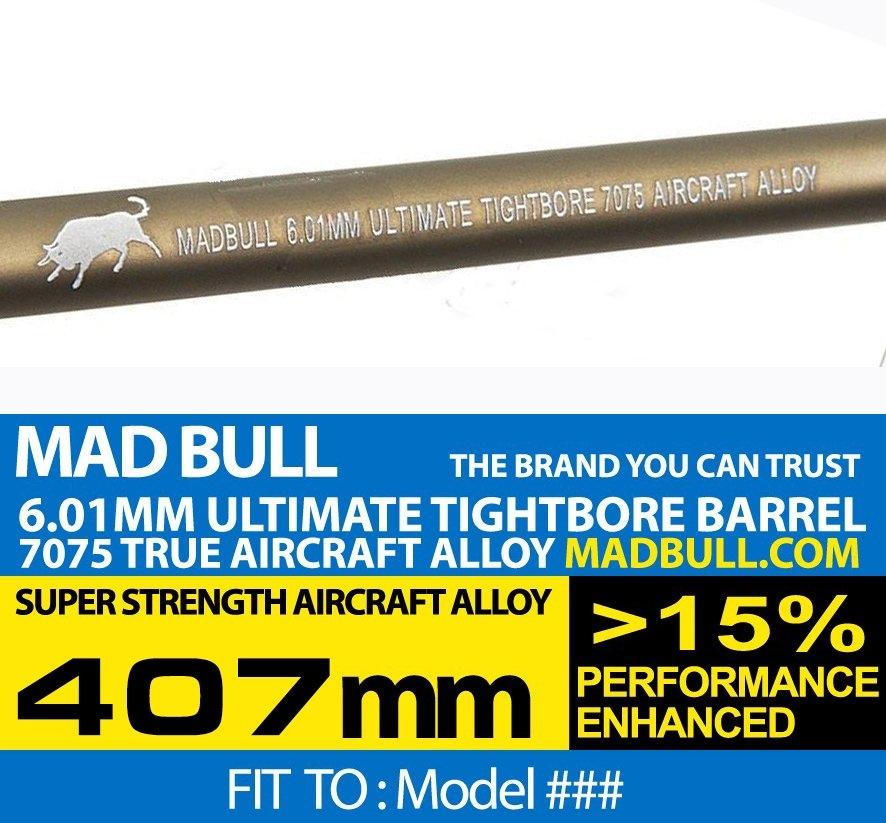 MADBULL ULTIMATE 6.01mm 7075Alüminyum Tight Bore İç Namlu 407mm