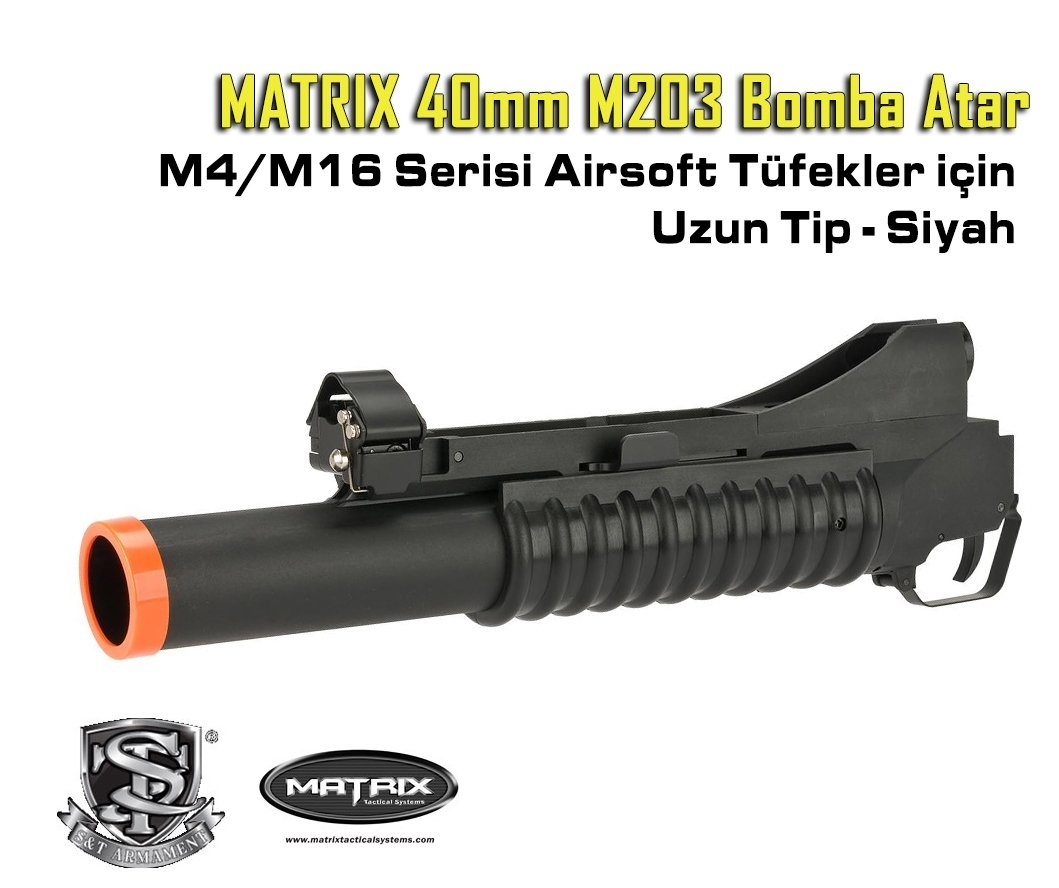 Matrix ''Speed'' 40mm M203 M4 M16 BOMBA ATAR UZUN-SIYAH