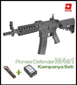 NP Pioneer AIRSOFT M4a1 Pil+Şarj SET - Thumbnail