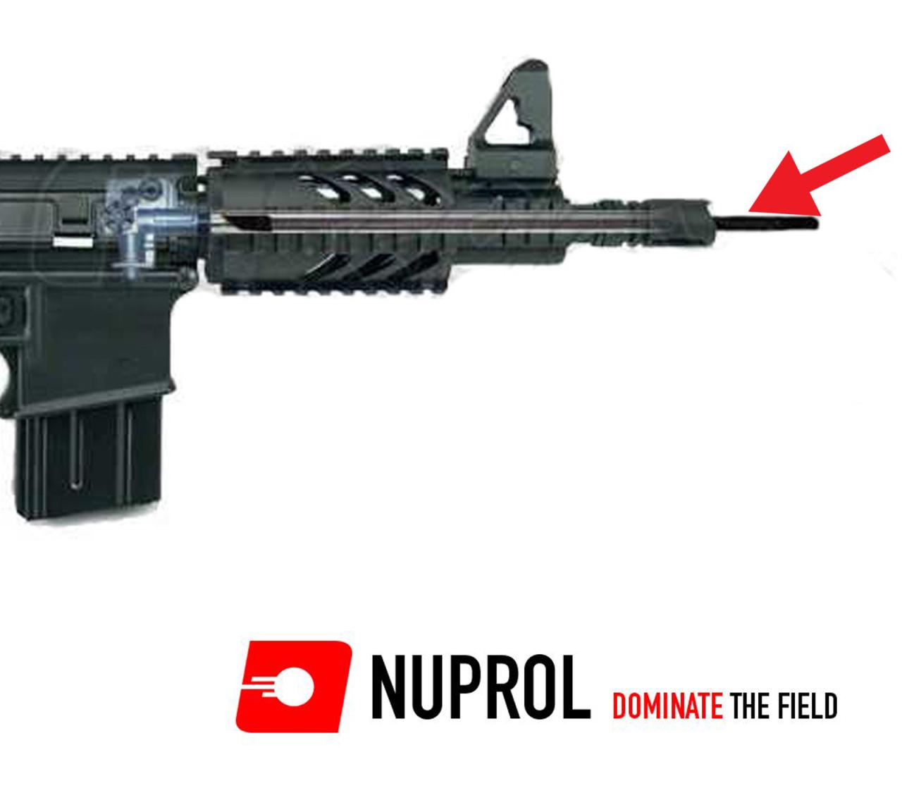 NUPROL Airsoft 590mm (6.03mm) Paslanmaz Çelik Namlu