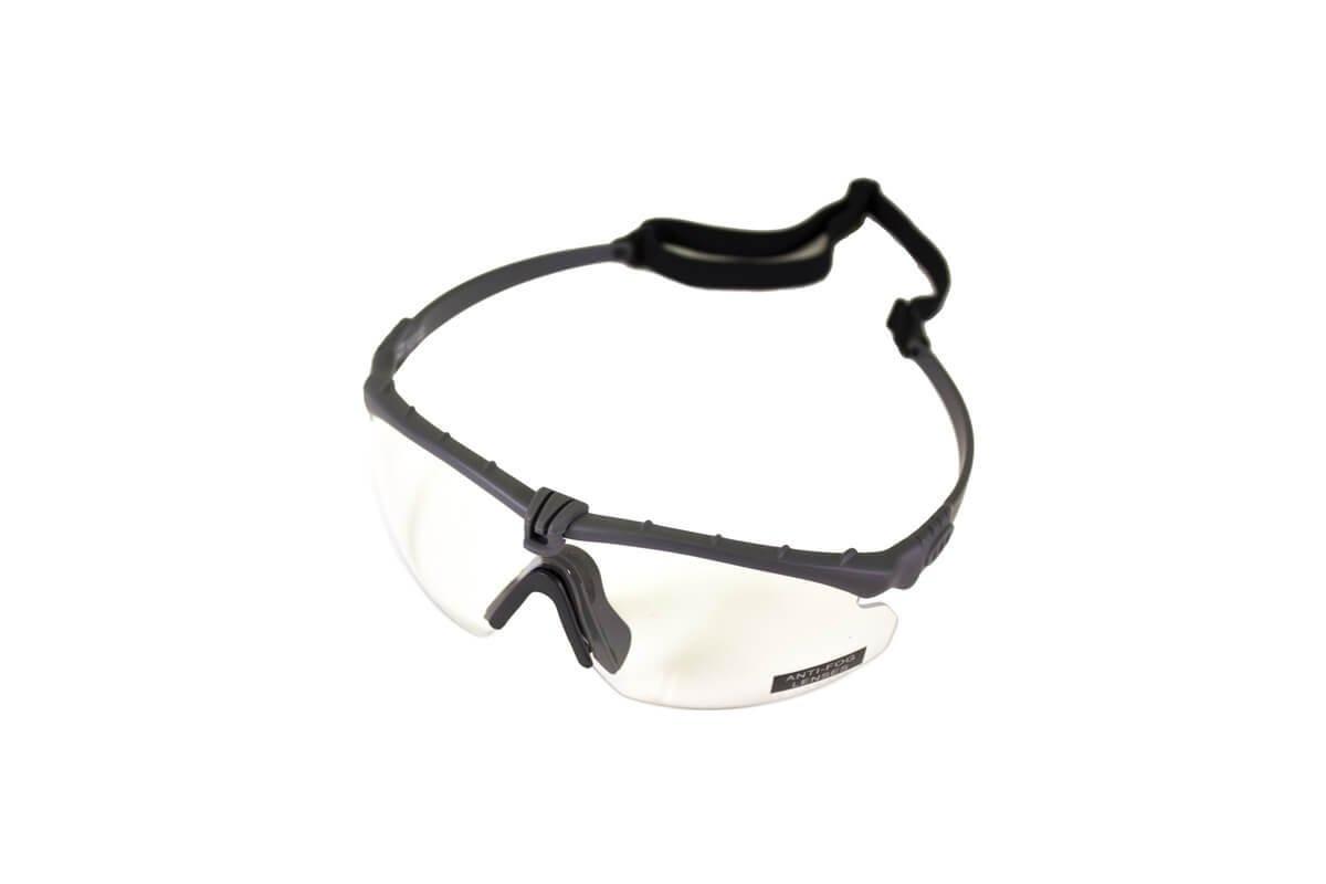 Nuprol Airsoft Gözlük GRI Çerçeve, Şeffaf Cam