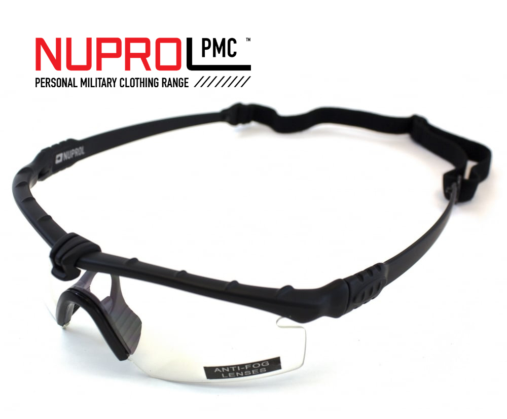 Nuprol Airsoft Gözlük SIYAH Çerçeve, ŞEFFAF Cam 6042-BKCL