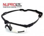 Nuprol Airsoft Gözlük SIYAH Çerçeve, ŞEFFAF Cam 6042-BKCL - Thumbnail