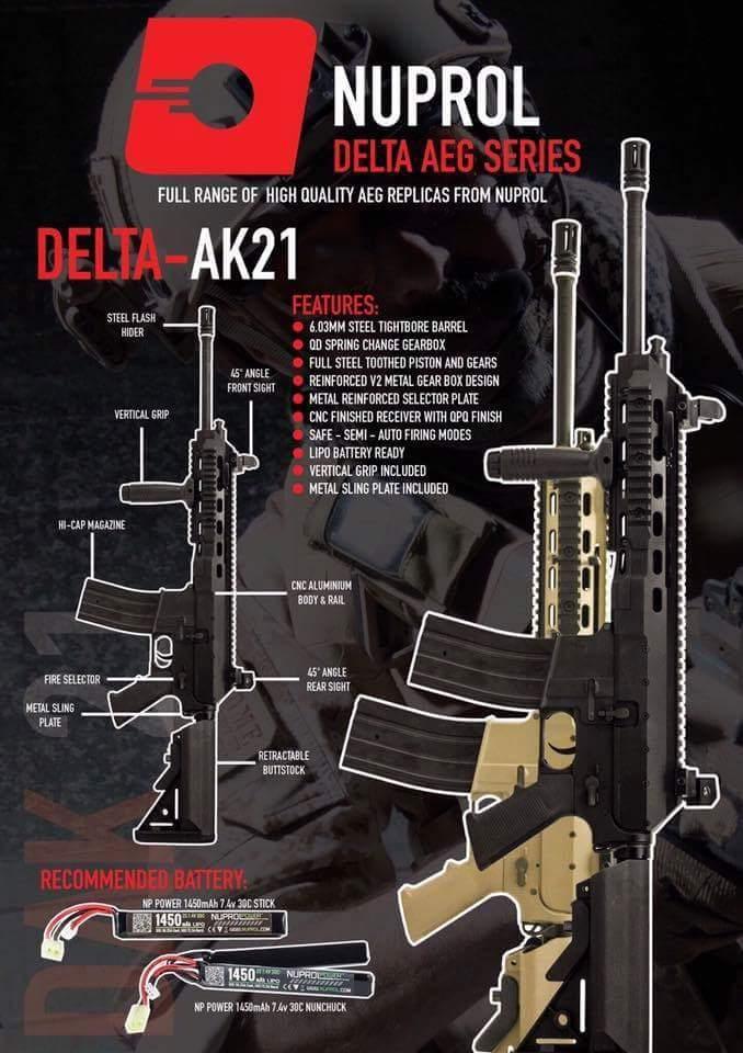 Nuprol AK21 - Siyah Airsoft Tüfek