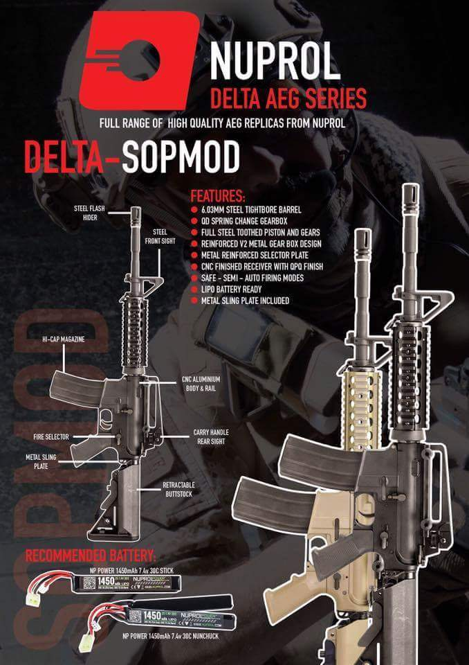 Nuprol Delta SOPMOD - Siyah Airsoft Tüfek