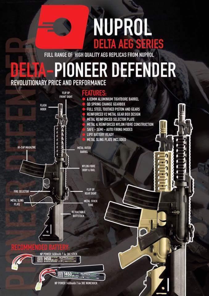 Nuprol PIONEER DEFENDER - Siyah AEG