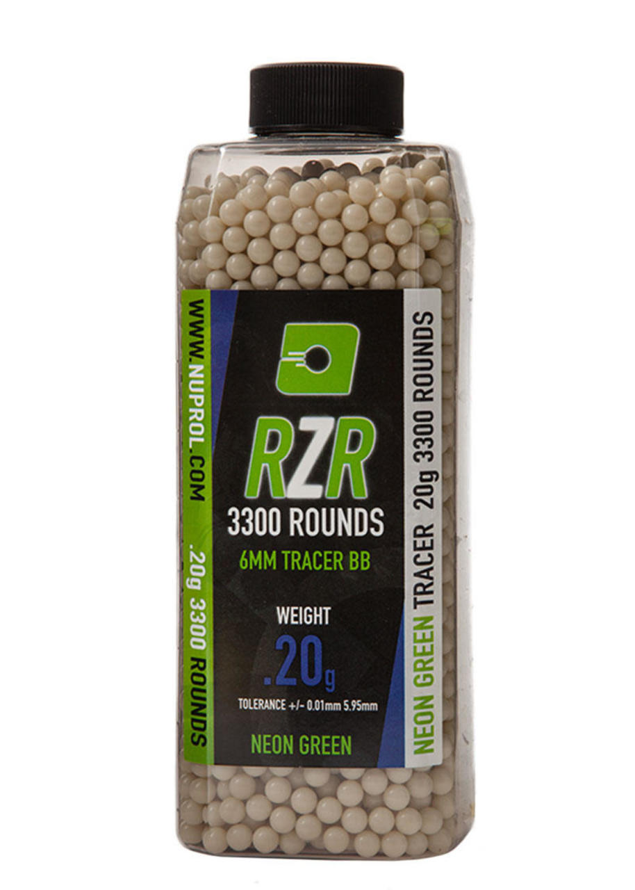 Nuprol RZR 0.20G Green Tracer AirSoft BB 3300 Adet