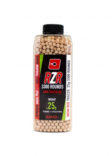 Nuprol RZR 0.25G Red Tracer AirSoft BB 3300 Adet