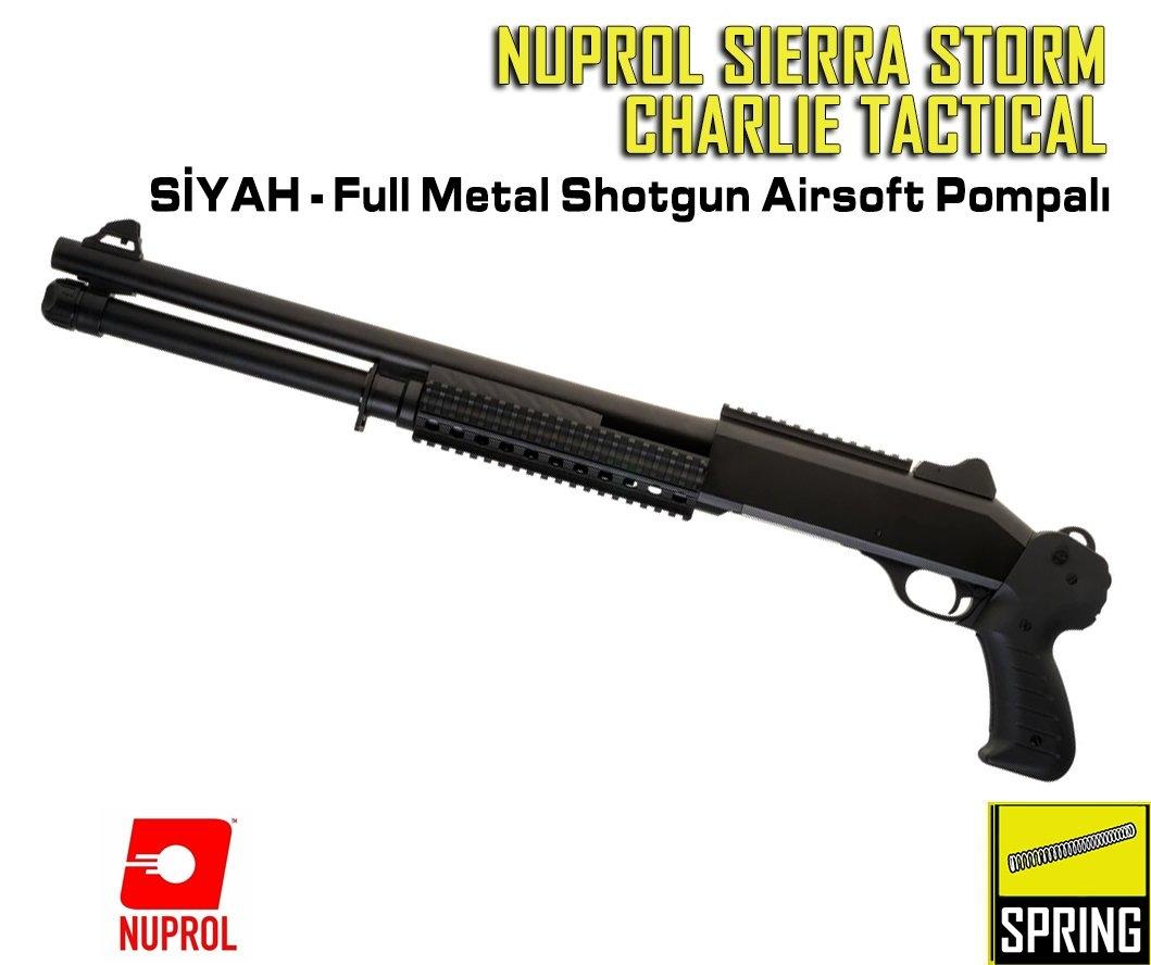 Nuprol Sierra Storm Charlie Tactical - Full Metal Shotgun Airsoft Pompalı