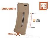 PTS Enhanced Polymer Magazine (EPM1) 250BB Midcap TAN AEG Şarjörü - Thumbnail