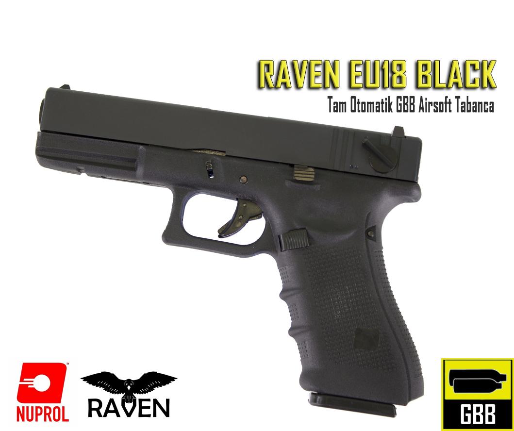RAVEN - EU Series 18 Tam Otomatik GBB Tabanca - Siyah