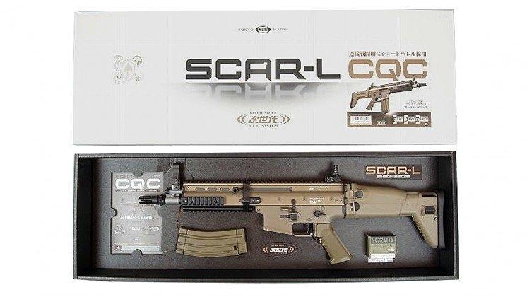 Tokyo Marui SCAR-L CQC AEG Airsoft Tüfek - Çöl Rengi