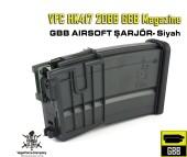 VFC HK417 GBB Magazine - 20BB - Siyah - Thumbnail