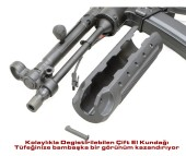 VFC MP5A5 Değiştirilebilir Çift El Kundaklı AEG Airsoft Tüfek - Siyah - Thumbnail