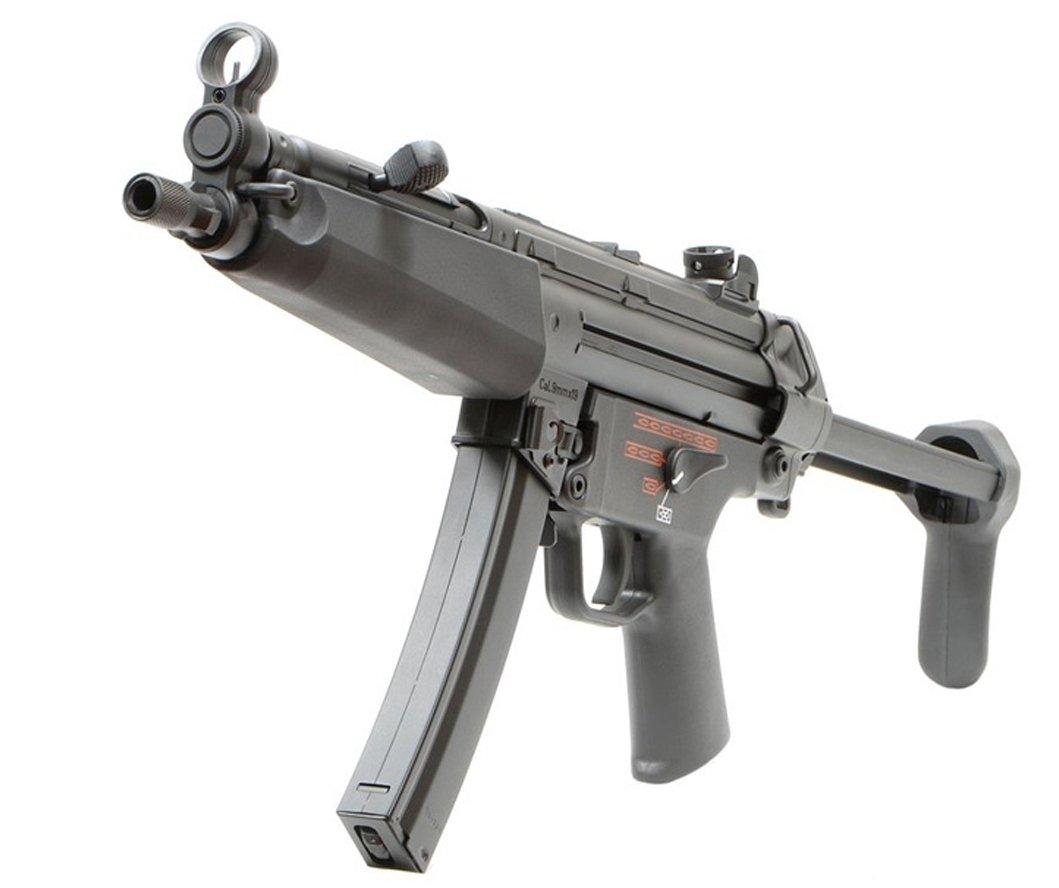 VFC MP5A5 Değiştirilebilir Çift El Kundaklı AEG Airsoft Tüfek - Siyah