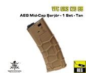 VFC QRS 120 BB AEG Mid-Cap Şarjör - 1 Set - Çöl Rengi - Thumbnail