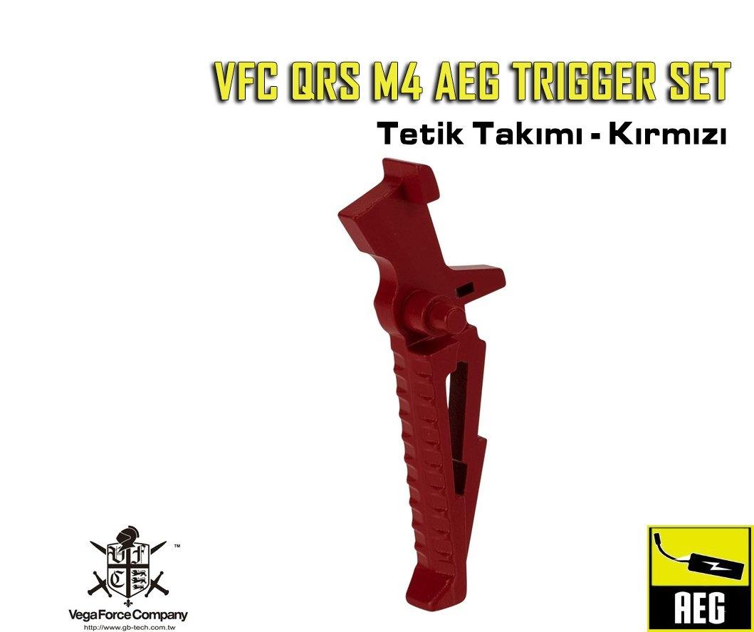 VFC QRS M4 AEG TRIGGER SET - KIRMIZI
