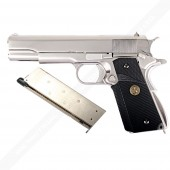 WE COLT 1911 A1 SILVER PRO GRIPS AIRSOFT TABANCA - Thumbnail