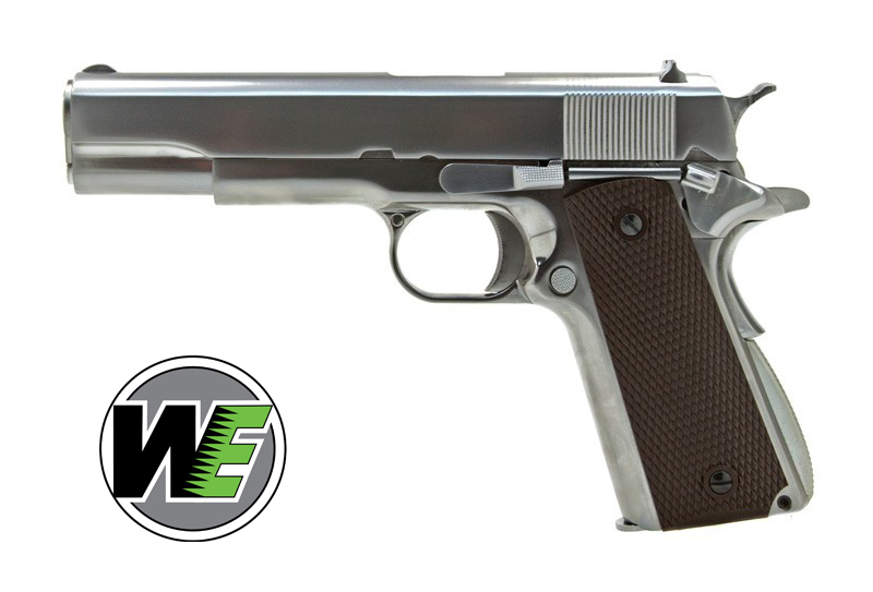 WE COLT 1911 SILVER Airsoft Tabanca