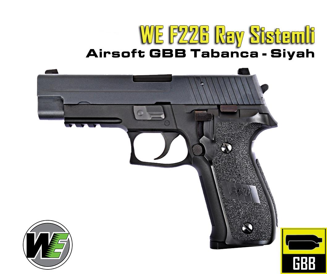 WE F226 Sig Sauer Ray Sistemli GBB Airsoft Tabanca - Siyah