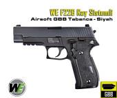 WE F226 Sig Sauer Ray Sistemli GBB Airsoft Tabanca - Siyah - Thumbnail