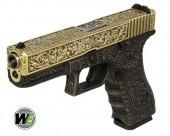 WE G17 ETCHED Bronze SE Gravürlü Glock Airsoft Tabanca - Thumbnail