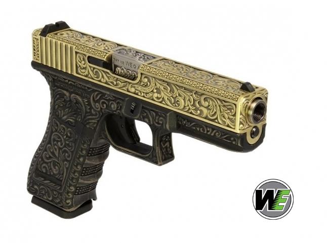 WE G17 ETCHED Bronze SE Gravürlü Glock Airsoft Tabanca