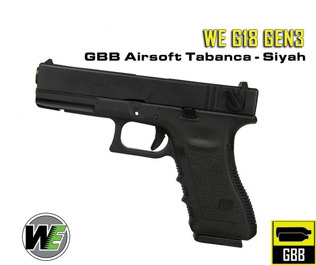 WE G18 Gen3 GBB Airsoft Tabanca